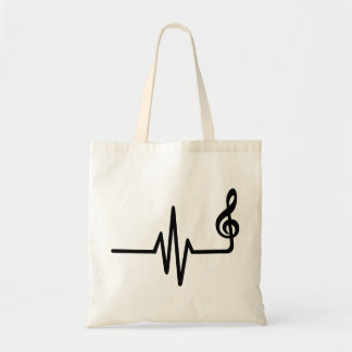 Frequency music note tote bag