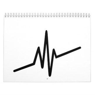 Frequency music pulse calendar