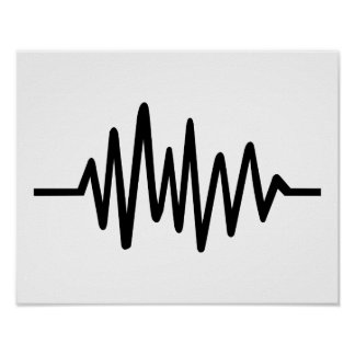 Frequency music pulse poster