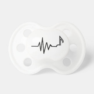 Frequency note music pacifiers