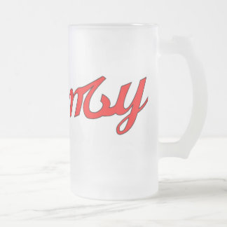 Frequency Original Frosted Glass Mug