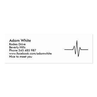 Frequency Pulse Double-Sided Mini Business Cards (Pack Of 20)