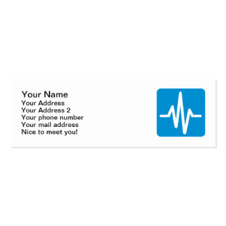 Frequency pulse heartbeat business card