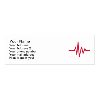 Frequency pulse heartbeat Double-Sided mini business cards (Pack of 20)