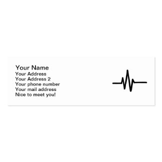 Frequency pulse heartbeat business cards