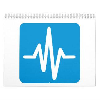 Frequency pulse heartbeat calendar