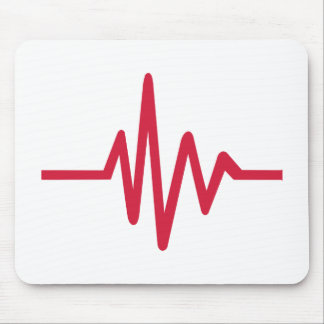 Frequency pulse heartbeat mousepads