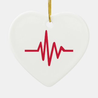 Frequency pulse heartbeat ornament