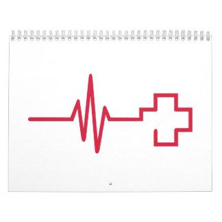Frequency red cross calendar
