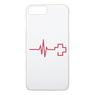 Frequency red cross iPhone 7 plus case