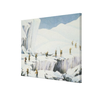 Frequent Appearance of the Ice with Bridges of Sno Stretched Canvas Print