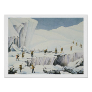 Frequent Appearance of the Ice with Bridges of Sno Poster