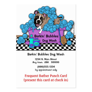 Frequent Bather Punch Card For Grooming Shop Large Business Cards (Pack Of 100)