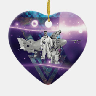 Frequent Flyer by Night Ceramic Ornament