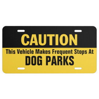Frequent Stops at Dog Parks License Plate