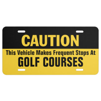 Frequent Stops at Golf Courses License Plate