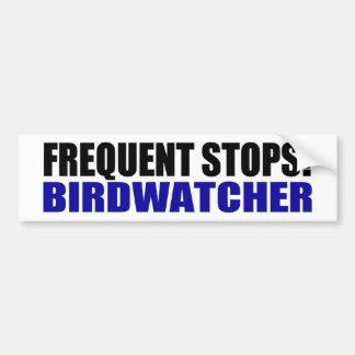 Frequent Stops! Birdwatcher Car Bumper Sticker