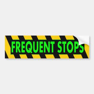 Frequent Stops Car Bumper Sticker