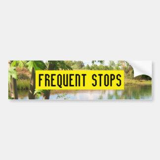 FREQUENT STOPS bumper sticker Car Bumper Sticker