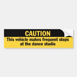 Frequent Stops Dance Studio bumper sticker Car Bumper Sticker