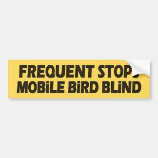 Frequent Stops Mobile Bird Blind Car Bumper Sticker