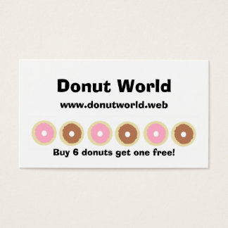 """Frequent Visitor"" (6 Donuts) Loyalty Cards"