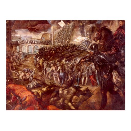 Frerico II Gonzaga conquered Parma by Tintoretto Post Cards