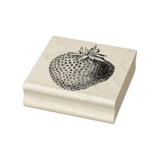 Fresa antigua botánica sello de caucho