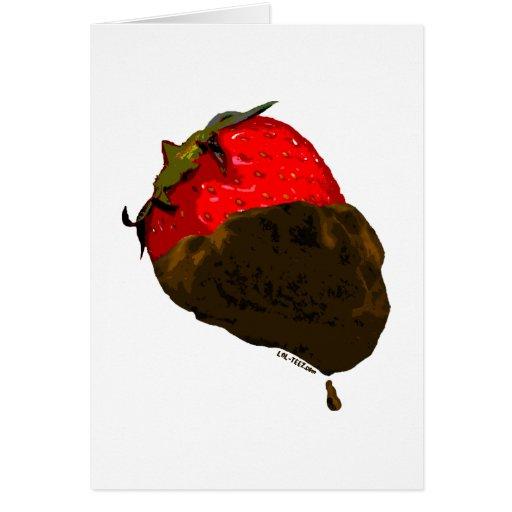Fresa Chocolate-Cubierta Tarjeta De Felicitación