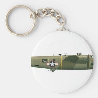 Fresa consolidada del libertador B-24 Llavero Redondo Tipo Pin