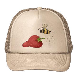 Fresa de la abeja gorras de camionero
