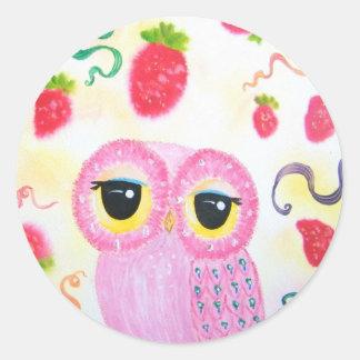 Fresa de la fresa pegatina redonda