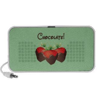 Fresa del chocolate laptop altavoz