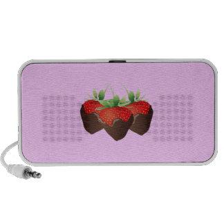 Fresa del chocolate iPod altavoces