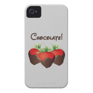 Fresa del chocolate iPhone 4 Case-Mate protector