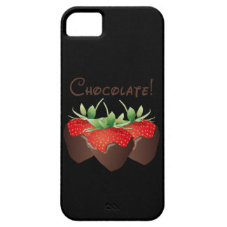 Fresa del chocolate funda para iPhone 5 barely there