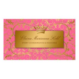 Fresa divina de oro 311 quemada tarjetas de visita