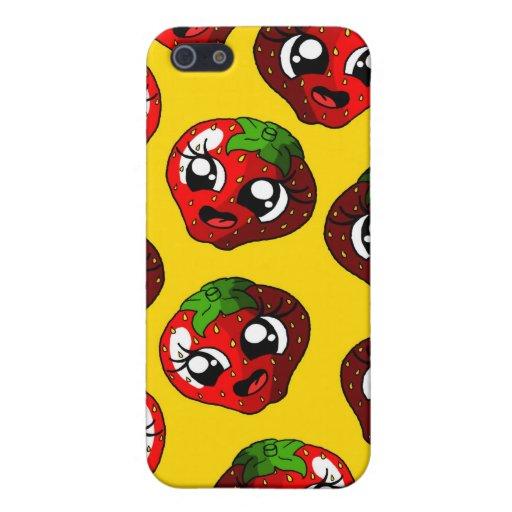 Fresa feliz iPhone 5 funda