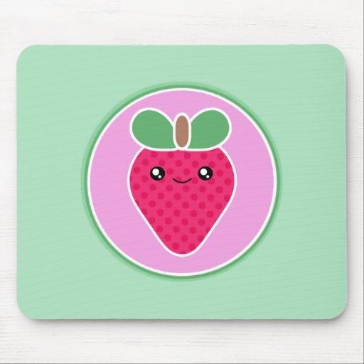 Fresa mega del dulce de Kawaii Tapete De Ratones