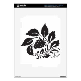 fresa, naturaleza, extracto, árboles, follaje pegatinas skins para iPad 3