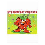 Fresa para siempre tarjetas postales