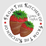 Fresa personalizada del chocolate de la etiqueta e