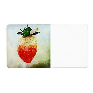 Fresa pintada etiquetas de envío