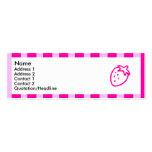 Fresa rayada rosada tarjeta de visita