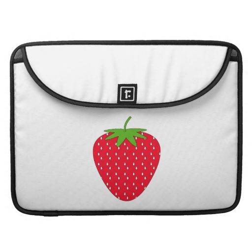 Fresa roja fundas para macbook pro