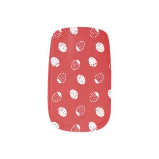 Fresa roja pegatina para uñas