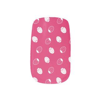 Fresa rosada stickers para manicura