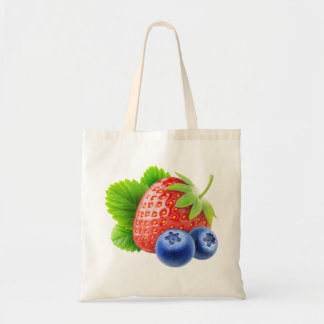 Fresa y arándanos bolsa tela barata