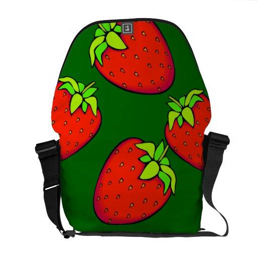 fresas bolsa de mensajería