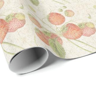 Fresas botánicas de la fruta del papel hecho a papel de regalo